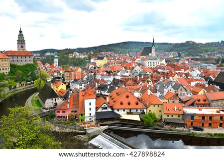 City of Cesky Krumlov, Czech Republic - stock photo