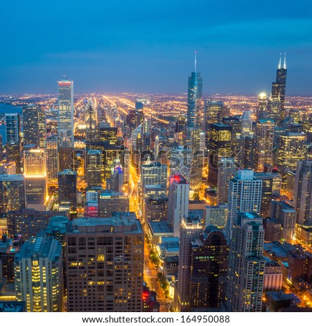 City of Chicago. Image of Chicago downtown