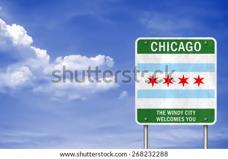 City of Chicago sign