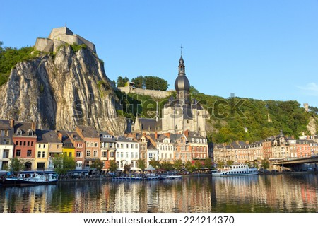 City of Dinant, Belgium - stock photo