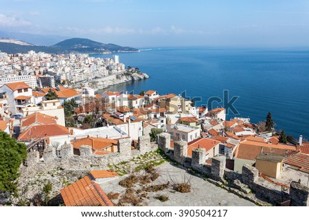 City of Kavala in Greece (summer resort place )