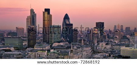 City of London one of the leading centres of global finance. - stock photo