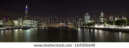 City of London panoramic - stock photo