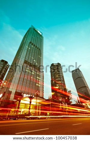 City of modern architecture - stock photo