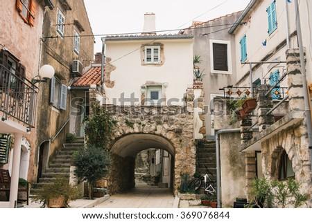 City of Omisalj on island of Krk, Croatia - stock photo
