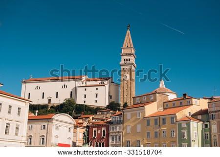 City of Piran in Slovenia - stock photo
