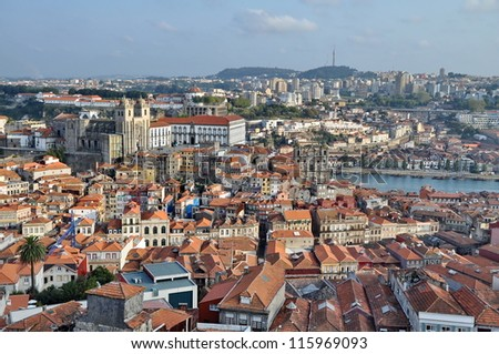 City of Porto (Portugal) from above