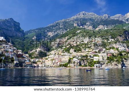 City of Positano, Amalfi coast, Italy - stock photo