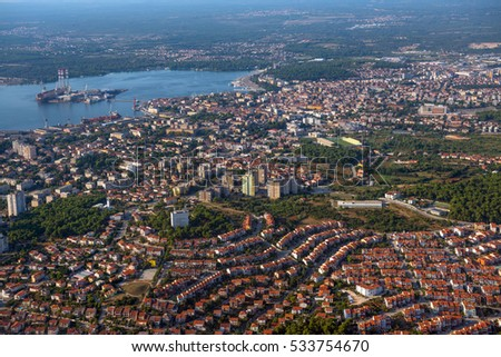 City of Pula, croatia, aerial view