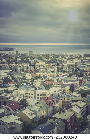 City of Reykjavik, Iceland - stock photo