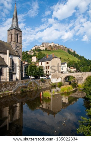 City of Saint-Flour, France - stock photo