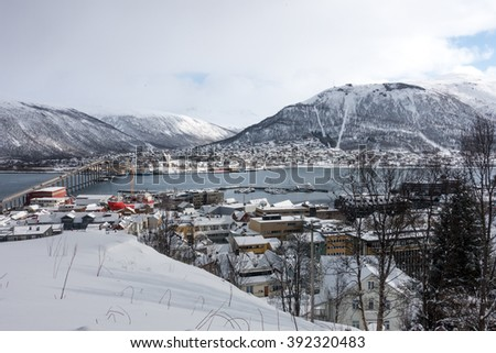 city of Tromso in the winter
