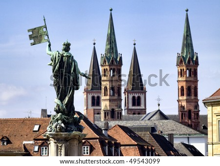 City of Wuerzburg, Bavaria, Germany