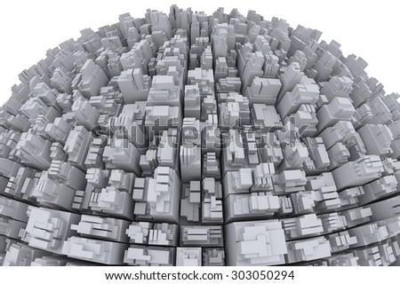 City on the globe - stock photo