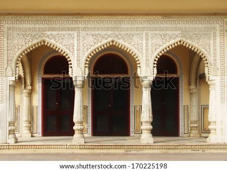 City Palace, Jaipur, Rajasthan, India - stock photo