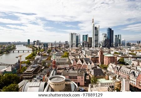 City Panorama Frankfurt River Stock Photo Shutterstock - Frankfurt river