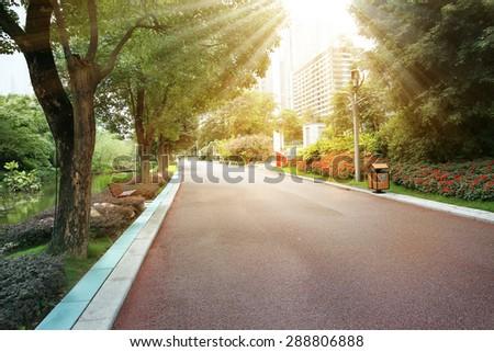City park road   - stock photo