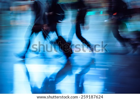 city passengers - stock photo