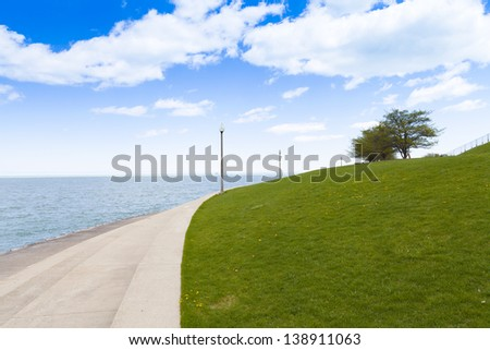 City Path With Blue Sky