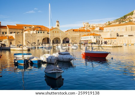 city port in Dubrovnik. Croatia. - stock photo