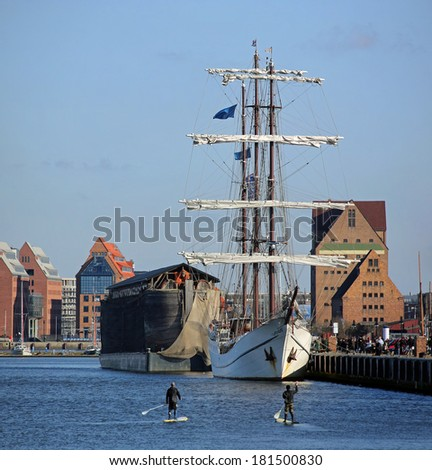 City port of Rostock (Mecklenburg-Vorpommern, Germany) - stock photo