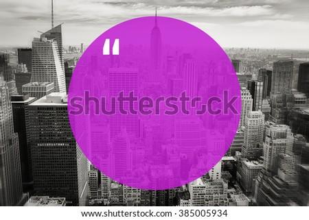 City Quatation Mark Background - stock photo