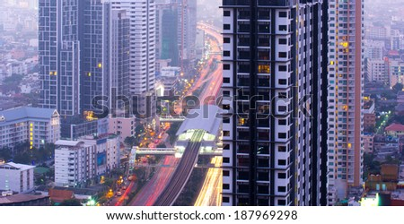 City residential area