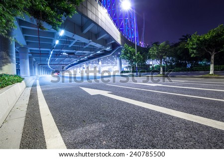 city road background - stock photo