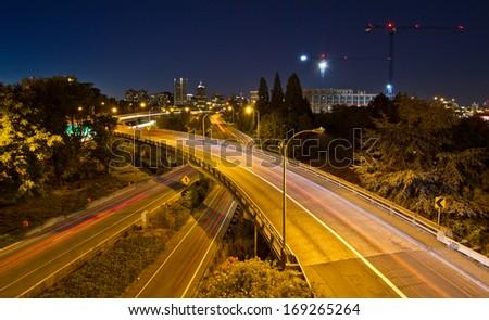 city road night - stock photo