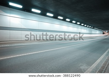 City road tunnel of night scene