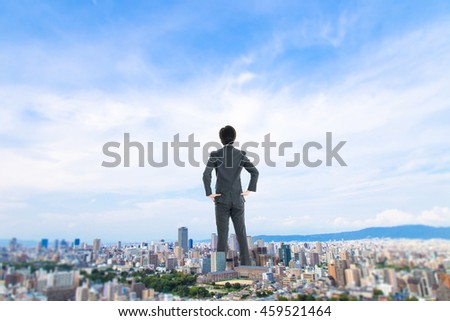 City Scape and businessman