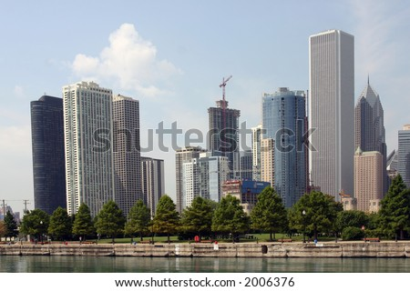 City Skyline and Waterfront Park