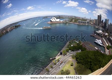 City Skyline at Circular Quay, Sydney, Australia - stock photo