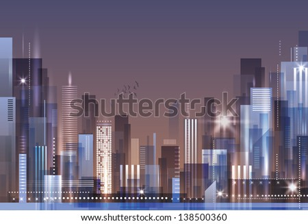 City Skyline. Raster version