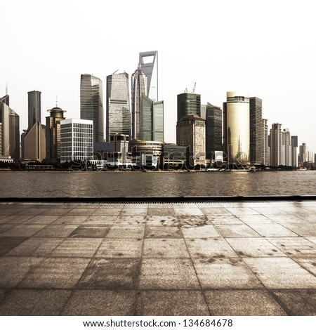 City Square at shanghai,china - stock photo