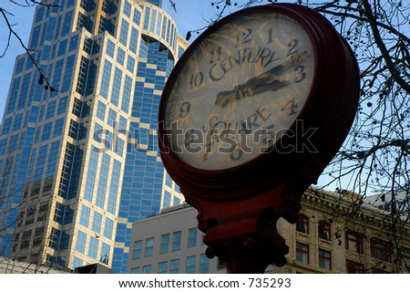City street clock - Seattle