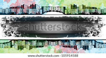 city ??strip - stock photo