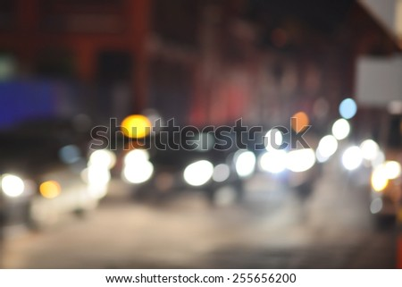 city traffic background purposely blur