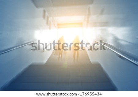 city underpass stairs  - stock photo