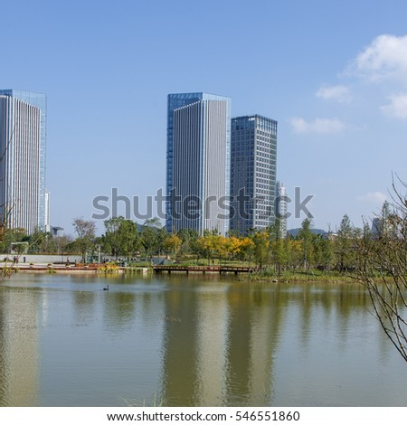 city Urban lake