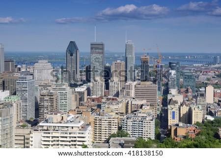 City View, Montreal, Quebec, Canada - stock photo