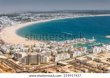 City view of Agadir at summer, Morocco