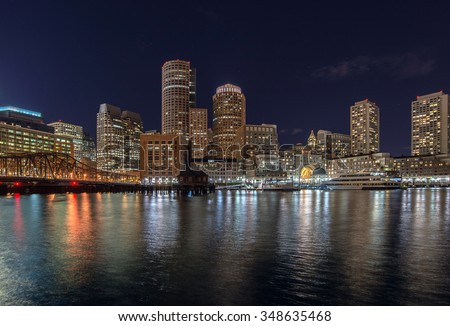 city view of Boston, Massachusetts, USA - stock photo