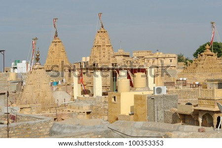 city view of Jaisalmer, a town in India