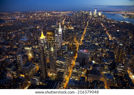 City view of Manhattan New York  - stock photo