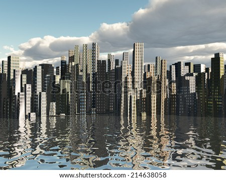 City Waterfront - stock photo