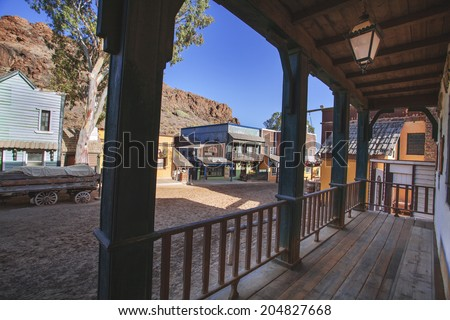 City West,Sioux City 29/10/2013, tourist attraction in Gran Canaria, the movie set of the film of the wild west. - stock photo