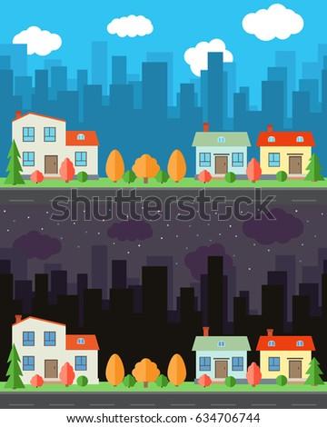 Day and night cartoon video