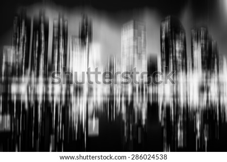 Cityscape bokeh, Blurred Photo, cityscape at twilight time - stock photo