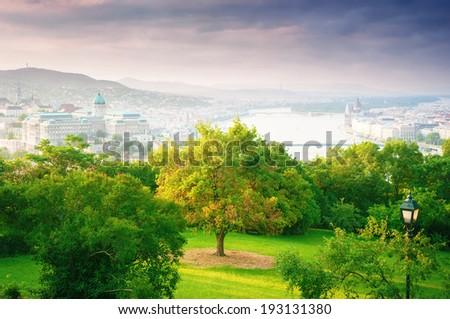 Cityscape Budapest, Hungary. - stock photo